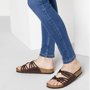 NEW • Birkenstock • Granada Leather Brown Sandals